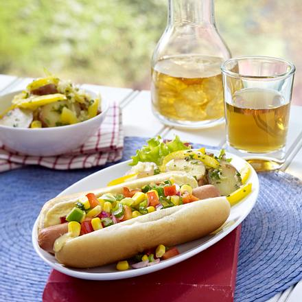 Corn Relish Dogs Rezept