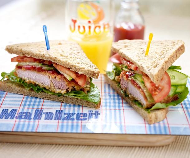 Cornflakes-Schnitzel-Sandwich Rezept