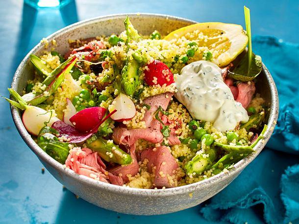 Couscous-Frühlingssalat mit Spargel Rezept
