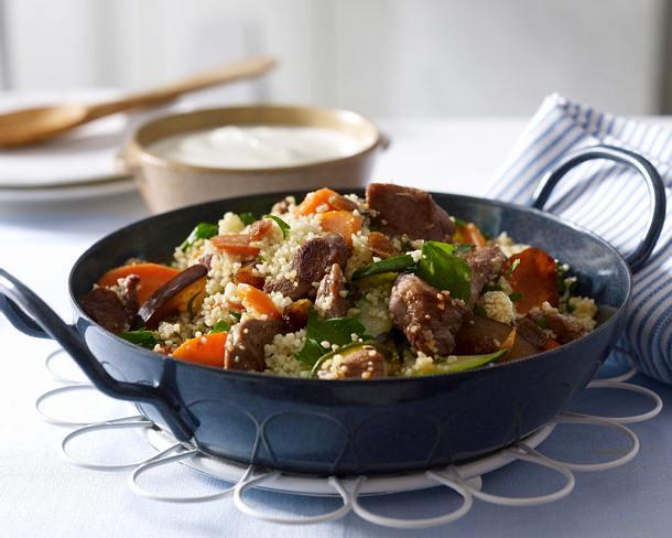 Couscous-Gemüse-Pfanne mit Lammfilet Rezept