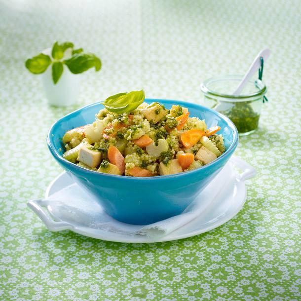 Couscous mit Pesto-Gemüse Rezept