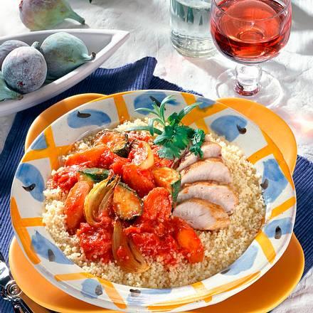 Couscous mit Tomaten-Gemüse Rezept