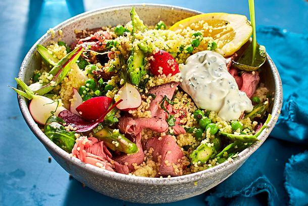 Couscous-Spargel-Salat zum Eintuppern Rezept