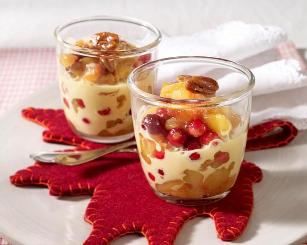 Cranberry-Apfel-Kompott mit Whiskey-Zabaione Rezept