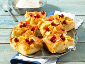 Cranberry-Apfelkuchen Rezept