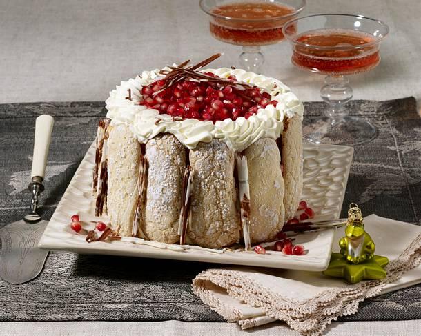 Cranberry-Granatapfel-Charlotte Rezept