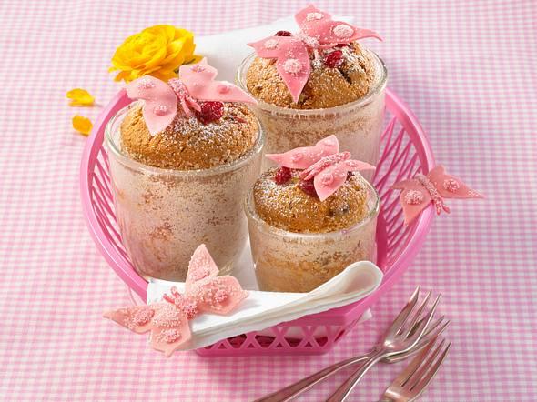 Cranberry-Sandkuchen im Glas Rezept