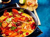 Cranberry-Thai-Curry mit Garnelen Rezept
