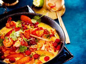 Cranberry-Thai-Curry mit Garnelen Rezept