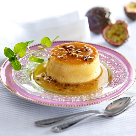 Crème Caramel mit Purpur-Granadilla Rezept