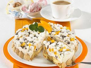 Crème-fraîche-Torte mit Mango & Schokobits Rezept