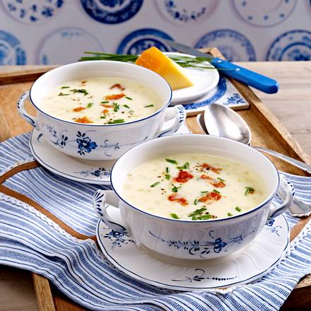 cremige k se sellerie suppe mit schinkenchips rezept chefkoch rezepte auf kochen. Black Bedroom Furniture Sets. Home Design Ideas