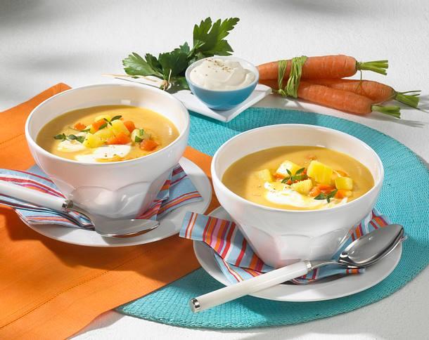 Cremige Möhren-Kartoffel-Suppe Rezept