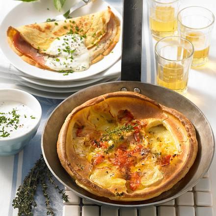 Crêpes mit Schinken & Camembert Rezept