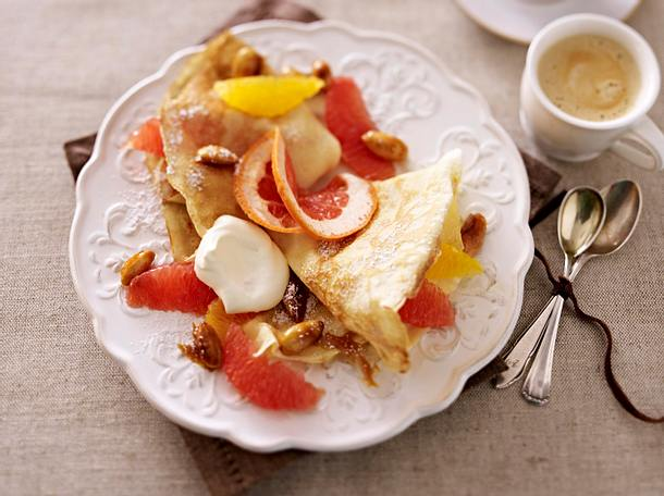 Crêpes mit Zitrusfrüchten Rezept