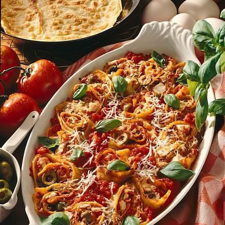 Crespelle mit Tomatenfüllung Rezept