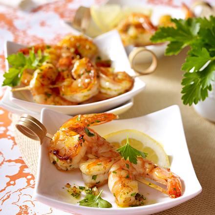 Crevettes sautées à l'ail Rezept