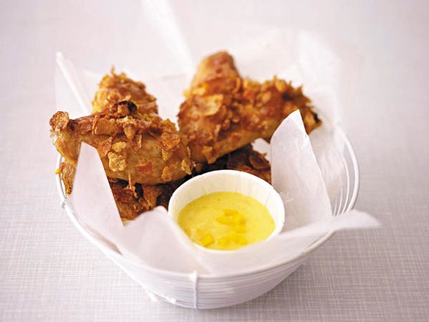 Crispy Chicken Wings mit Curry-Mango-Mayonnaise Rezept