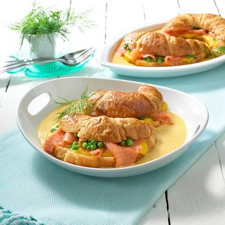 Croissant-Lachs-Auflauf Rezept