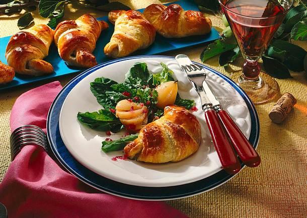 Croissants mit Roquefortfüllung Rezept