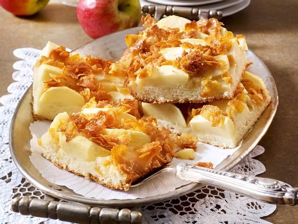 Crunchy-Apfel-Butterkuchen Rezept