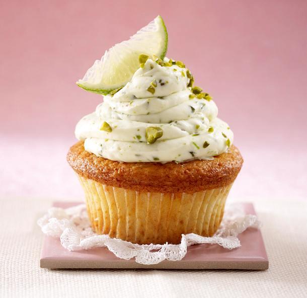 Cupcakes: Limetten-Mascarpone-Creme mit Pistazien Rezept