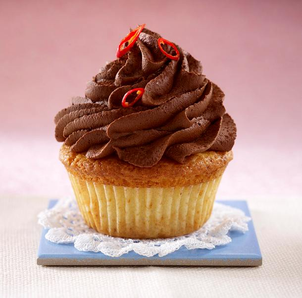 Cupcakes: Schoko-Canache mit Chili Rezept