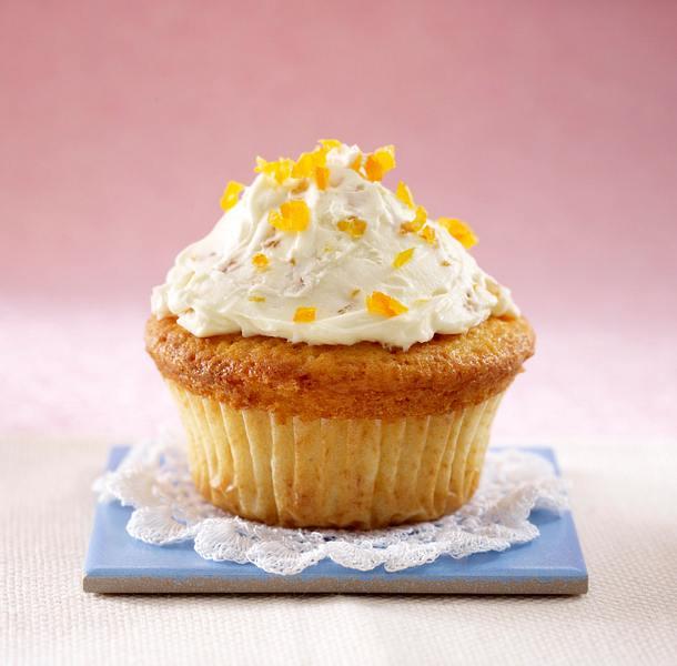 Cupcakes: Weiße Schokoladen-Aprikosencreme Rezept