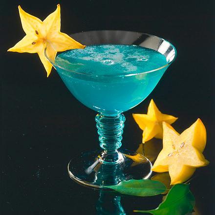 Curaçao blue mit Korn Rezept