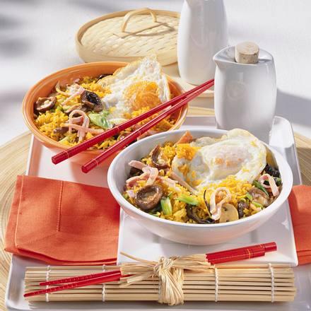Curry-Bratreis mit Spiegelei Rezept