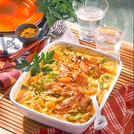 Curry-Hähnchen-Auflauf Rezept