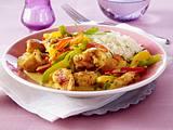 Curry-Hähnchengulasch mit Paprika Rezept