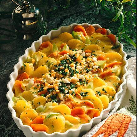 Curry-Kartoffelauflauf Rezept