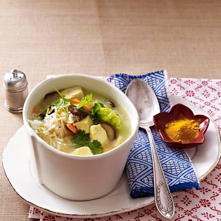 Curry-Kokossuppe mit Huhn Rezept
