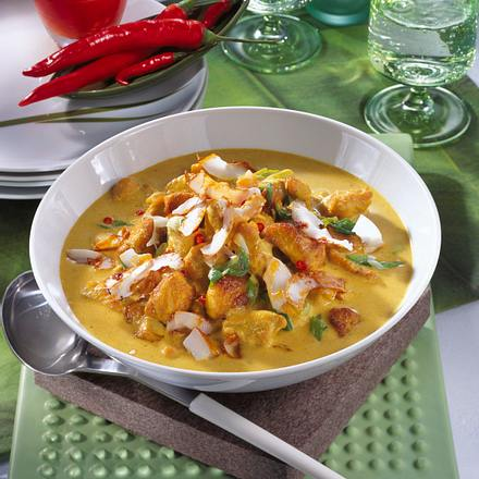 Curry-Putengulasch Rezept