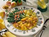 Curry-Putengulasch mit feinen Bohnen Rezept
