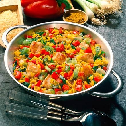 Curry-Reis mit Hähnchen Rezept