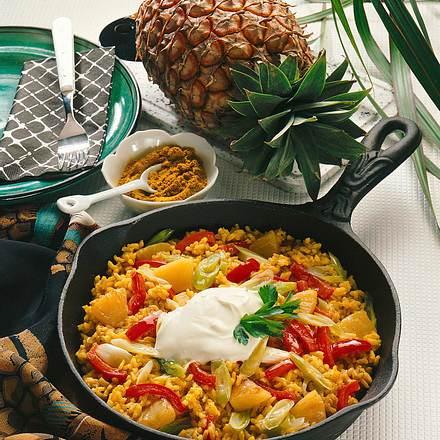 Curry-Reispfanne Rezept