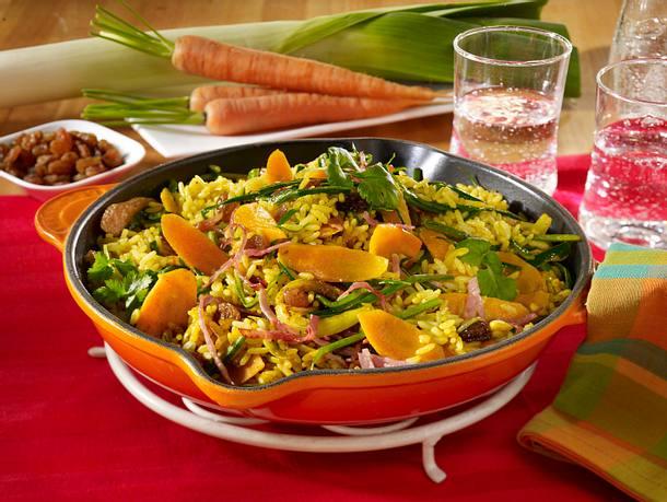 Curry-Reispfanne mit Schinken Rezept