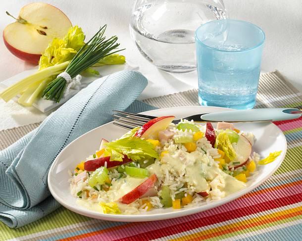 Curry-Reissalat mit Putenbrust Rezept