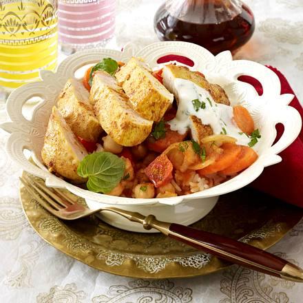 Curryhähnchen mit zweierlei Sesamöl Rezept