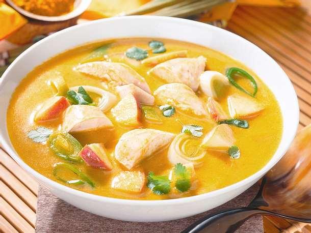 Currysuppe mit Hähnchen Rezept