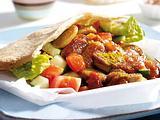 Currywurst in der Pitatasche Rezept