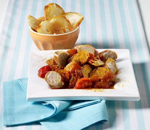 Currywurst mit Peperonisoße Rezept