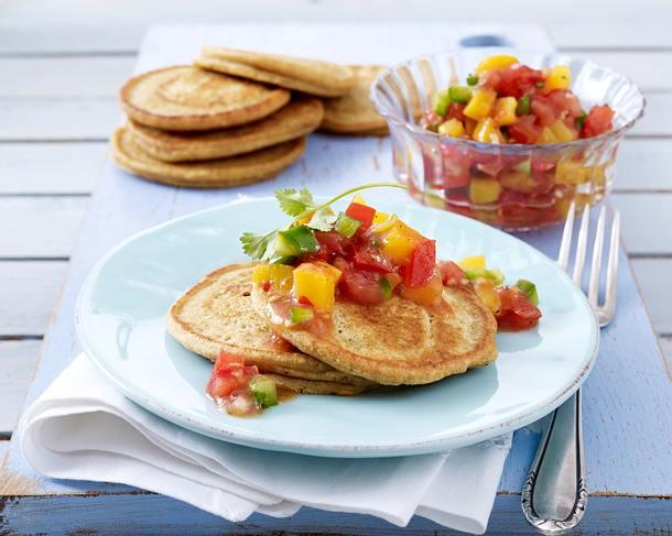 Dal-Brot mit fruchtiger Pfirsich-Tomaten-Salsa Rezept