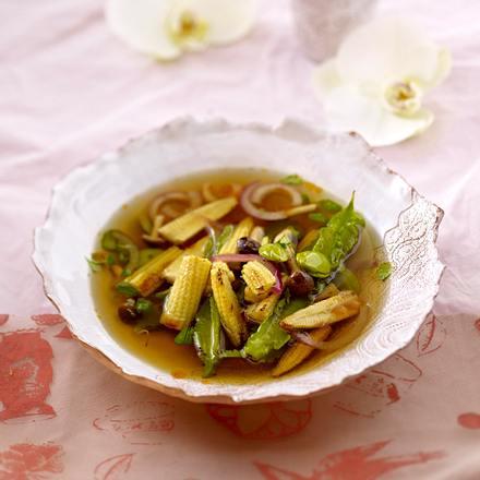 Dashi-Brühe mit Gemüse Rezept