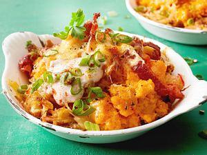 Deftige Süßkartoffelromanze mit Sauerkraut Rezept
