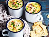 Der Mais ist heiß!  Suppenstärkung mit Huhn Rezept