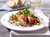 Dicke Bohnen in Gorgonzolarahm zu Hähnchenfilet Rezept