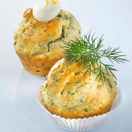 Dill-Muffins mit Dip Rezept